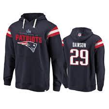 Duke Hoodie Dawson Liii Super England Patriots Bowl Men Navy - 29 New