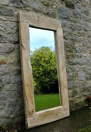 large wood framed mirror large mirror handmade oak frame wall beautiful mirrors large wooden framed wall