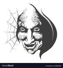 Evil wizard face Royalty Free Vector Image - VectorStock