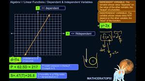 independent variables in real world situations described by linear equations