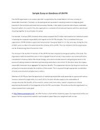 sample essay on goodness of un pri sample essay on goodness of un pri the un pri organization is an investor plan that
