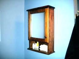 wood medicine cabinets semi recessed