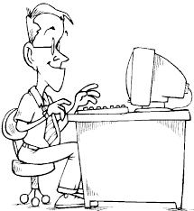 Professional Worker Computer Coloring Book Free Coloring Pages