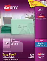 Avery Nametag Avery Clear Address Labels With Easy Peel Walmart Canada