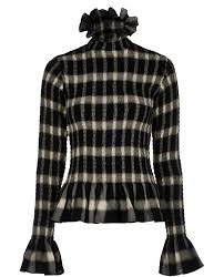 Margiela Size Chart Mm6 Maison Margiela Ruffle Plaid Top