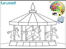 Small Picture Carousel Coloring Pages For Kids Carousel Coloring Pages YouTube