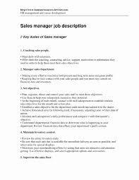 Manager Job Description For Resume Awesome Cvb Sales Manager Job
