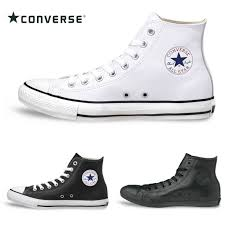 converse all stars leather higher frequency elimination converse lea all star hi regular article men