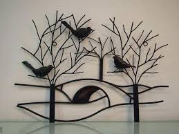 metal wall art decor rustic tree branch with birds for decoration birdcage on metal wall art tree branches with metal wall art decor rustic tree branch with birds for decoration