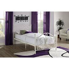 DHP Bombay White Twin Bed Frame 3246098 The Home Depot