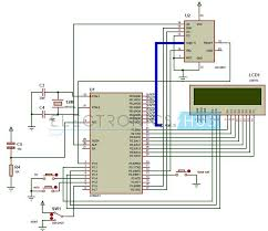 digital clock circuit using 8051 microcontroller and ds12c887 circuit diagram of digital clock using 8051 microcontroller and rtc ds12c887