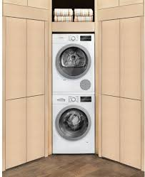 compact stacked washer dryer. Perfect Dryer Drum Bosch 500 Series WTG86401UC  Shown With Matching Washer And Compact Stacked Dryer