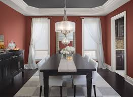dining room color schemes. Dining Room Painted In Benjamin Moore\u0027s Red Color Palette. Schemes Moore