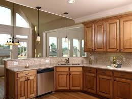 light brown kitchen cabinets classic cathedral door
