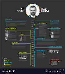 Template Cv Timeline Minimalist Cv Resume Template Royalty Free Vector