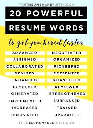 Resume Starter Words 4676 Cd Cd Org