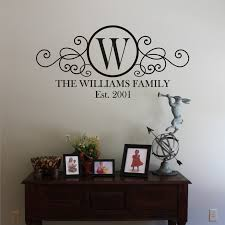 image of circle monogram wall decor