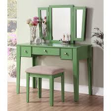 Three Way Vanity Mirror Sweet Vintage Bedroom Vanity Furniture Design Featuring Wooden