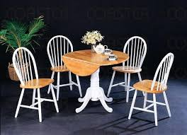 gorgeous white drop leaf table and chairs kitchen for your small space latch round with kitche
