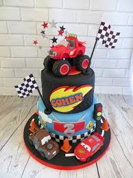 Disney Cars Birthday Cake Blaze And Disney Cars Birthday Cake