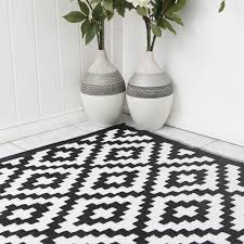 black and white outdoor rug pixel