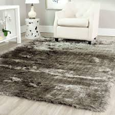 safavieh paris shag silver  ft x  ft area rugsg