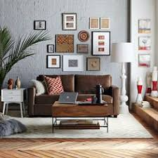 grey walls brown furniture. West Elm Brown Sofa Using Red Russets Sparingly With Gray Walls. Grey Walls Furniture M
