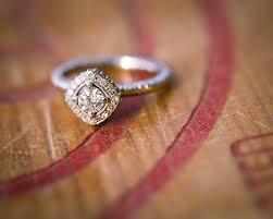 white gold enement ring