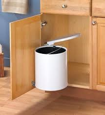 brown kitchen trash can swing out white trash can in cabinet trash cans throughout kitchen garbage