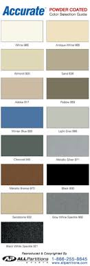 Asi Accurate Partitions Color Chart Phenolic Bathroom