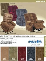 catnapper omni 4827 lift chair recliner information