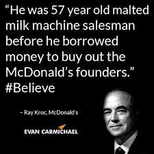 「1955, Raymond Albert Kroc opened the first mcdonald」の画像検索結果