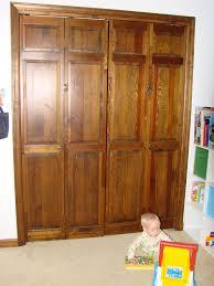 babyproofing ing a wooden bi fold door