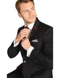 <b>Men's Black Tailored</b> Fit <b>Italian</b> Suit - 1913 Collection | Hawes & Curtis