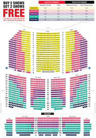 Broadway Seating Map Paramount Theatre