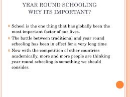 should school be year round year round