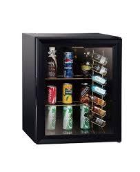 30l black glass door mini bar fridge at