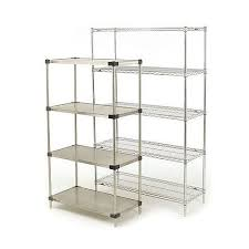 super erecta solid stainless steel shelving 5 shelf unit hxwxdmm 1895x914x457