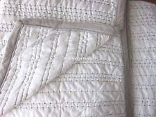 Velvet Bedding | eBay & TAHARI Stitched KING QUILT COVERLET White Silver Gray Grey Velvet Trim NEW Adamdwight.com