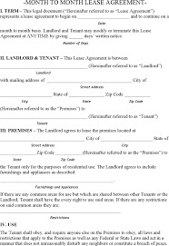 Free Hawaii Month To Month Lease Agreement Form - Pdf | 187Kb | 7 ...