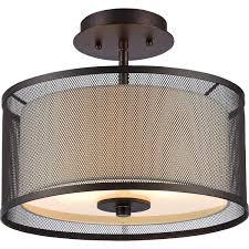 chloe lighting audrey transitional 2 light rubbed bronze semi flush ceiling light 13 w