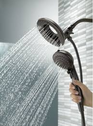 save delta faucet 75583rb in2ition 5 function handheld dual shower head