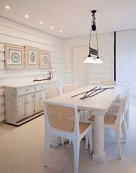 dining room buffet dining room shabby chic style with gallery wall ceiling lighting