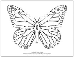 Profile of a butterfly with flowers. Butterfly Coloring Pages Free Printable Butterflies One Little Project