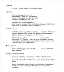 Cute What Should A College Resume Look Like Cool 12 Sample Cv Ideas