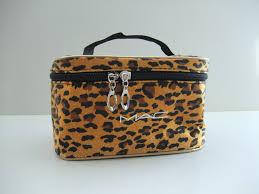 mac makeup bag leopard orange