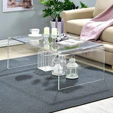 acrylic coffee table clear acrylic coffee table lucite coffee table tray