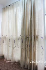 Purple Curtains For Living Room Aliexpresscom Buy Lavender Embroidered Linen Curtains For The