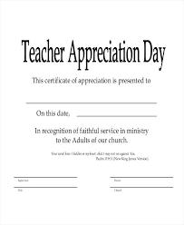 Recognition Of Service Certificate Template School Teacher
