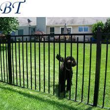 4 foot black aluminum garden fence